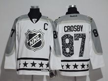 Mens Reebok Pittsburgh Penguins #87 Sidney Crosby White 2017 All Star Hockey Jersey