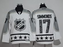 Mens Reebok Philadelphia Flyers #17 Wayne Simmonds White 2017 All Star Hockey Jersey