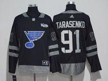 Mens Reebok St.louis Blues #91 Vladimir Tarasenko Black 100 Anniversary Jersey