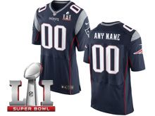 Mens   New England Patriots Blue Super Bowl Li Bound Elite Jersey