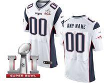 Mens New England Patriots White Super Bowl Li Bound Elite Jersey