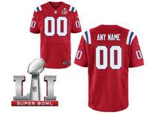 Mens New England Patriots Red Super Bowl Li Bound Elite Jersey
