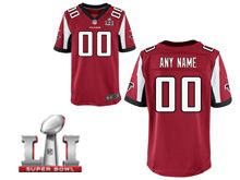Mens   Atlanta Falcons Red Super Bowl Li Bound Elite Jersey