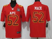 Mens Nfl Oakland Raiders #52 Khalil Mack Red (2017 Pro Bowl) Limited Jersey
