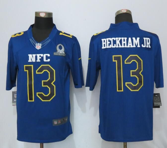 Mens Nfl New York Giants #13 Odell Beckham Jr. Blue (2017 Pro Bowl) Limited Jersey