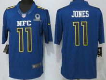 Mens Nfl Atlanta Falcons #11 Julio Jones Blue (2017 Pro Bowl) Limited Jersey