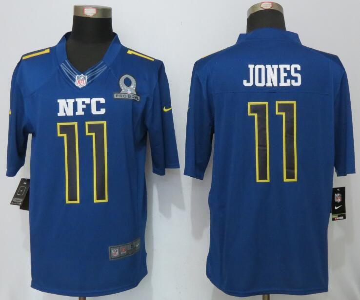 Mens Nfl Atlanta Falcons #11 Julio Jones Blue (2017 Pro Bowl) Limited Jersey