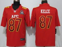 Mens Nfl Kansas City Chiefs #87 Travis Kelce Red (2017 Pro Bowl) Limited Jersey