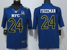 Mens Nfl Atlanta Falcons #24 Devonta Freeman Blue (2017 Pro Bowl) Limited Jersey