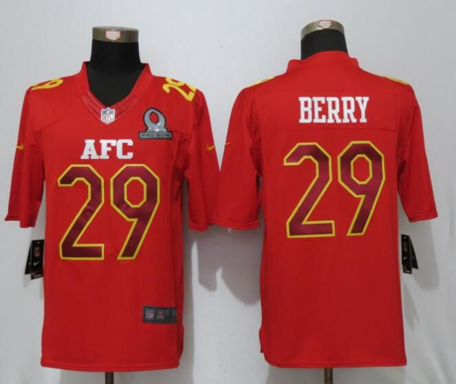 Mens Nfl Kansas City Chiefs #29 Eric Berry Red (2017 Pro Bowl) Limited Jersey