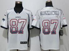 Mens Nfl New England Patriots #87 Rob Gronkowski White Drift Fashion Elite Jersey