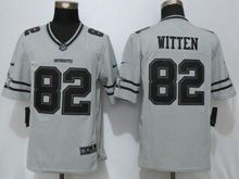 Mens Nfl Dallas Cowboys #82 Jason Witten Gridiron Gray Ii Limited Jersey