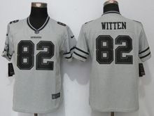 Women Nfl Dallas Cowboys #82 Jason Witten Gray Gridiron Gray Ii Limited Jersey