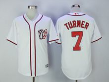 Mens Mlb Washington Nationals #7 Trea Turner White Cool Base Jersey