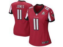 Women   Atlanta Falcons #11 Julio Jones Red Super Bowl Li Bound Game Jersey