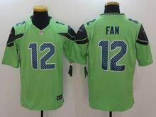 Mens   Nfl Seattle Seahawks #12 Fan Green Color Rush Limited Jersey