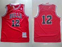 Mens Mitchell&ness Nba Chicago Bulls #12 Michael Jordan Red Mesh Jersey