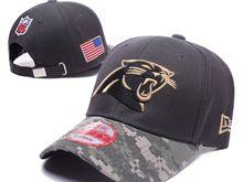 Carolina Panthers Green Salute To Service Snapback Hats