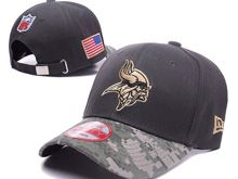 Minnesota Vikings Green Salute To Service Snapback Hats
