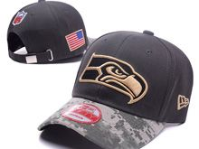 Seattle Seahawks Green Salute To Service Snapback Hats