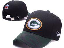 Green Bay Packers Black Snapback Hats