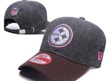 Pittsburgh Steelers Gray Fashion Snapback Hats