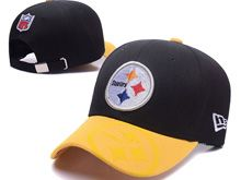 Pittsburgh Steelers Black Yellow Snapback Hats