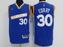 Mens Adidas Golden State Warriors #30 Stephen Curry Royal Blue Stretch Crossover Swingman Jersey