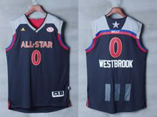Mens Adidas Oklahoma City Thunder #0 Russell Westbrook Black 2017 Nba All-star Game Swingman Jersey
