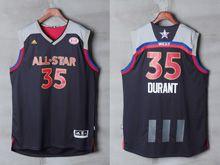 Mens Adidas Oklahoma City Thunder #35 Kevin Durant Black 2017 Nba All-star Game Swingman Jersey