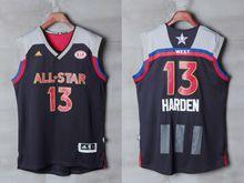 Mens Adidas Houston Rockets #13 James Harden Black 2017 Nba All-star Game Swingman Jersey