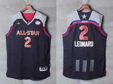 Mens Adidas San Antonio Spurs #2 Kawhi Leonard Black 2017 Nba All-star Game Swingman Jersey