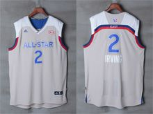 Mens Adidas Cleveland Cavaliers #2 Kyrie Irving Gray 2017 Nba All-star Game Swingman Jersey