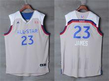 Mens Adidas Cleveland Cavaliers #23 Lebron James Gray 2017 Nba All-star Game Swingman Jersey