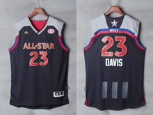 Mens Adidas New Orleans Hornets #23 Anthony Davis Black 2017 Nba All-star Game Swingman Jersey