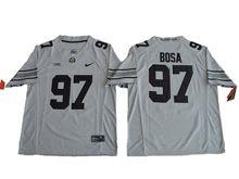 Mens Ncaa Nfl Ohio State Buckeyes #97 Joey Bosa Gridion Grey Ii Jersey