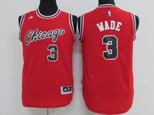 Youth Nba Chicago Bulls #3 Dwyane Wade (chicago) Red Jersey