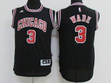 Youth Nba Chicago Bulls #3 Dwyane Wade (chicago) Black Jersey