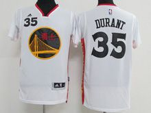 Mens Adidas Golden State Warriors #35 Kevin Durant White 2017 Chinese New Year Swingman Jersey