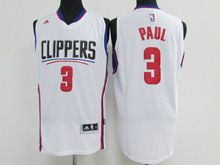 Mens Adidas Nba Los Angeles Clippers #3 Chris Paul White Jersey