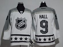 Mens Reebok New Jersey Devils #9 Taylor Hall White 2017 All Star Hockey Jersey