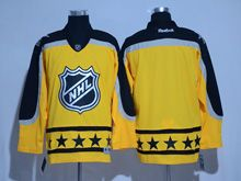 Mens Reebok St.louis Blues Blank Yellow 2017 All Star Hockey Jersey