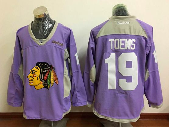 Mens Reebok Nhl Chicago Blackhawks #19 Jonathan Toews Purple Jersey