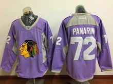 Mens Reebok Nhl Chicago Blackhawks #72 Artemi Panarin Purple Jersey