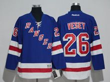 Mens Reebok New York Rangers #26 Jimmy Vesey Royal Blue Home Premier Jersey