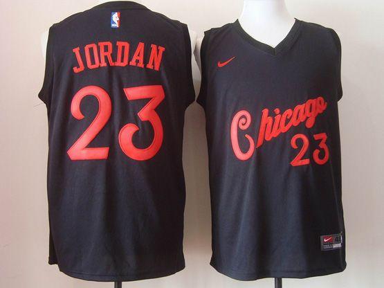 Mens Nike Nba Chicago Bulls #23 Michael Jordan Black 2016 Christmas Day Jersey