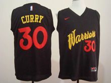 Mens   Golden State Warriors #30 Stephen Curry Black 2016 Christmas Day Jersey