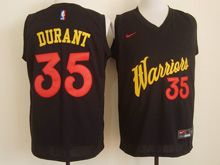 Mens   Golden State Warriors #35 Kevin Durant Black 2016 Christmas Day Jersey