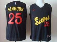 Mens   Nba Philadelphia 76ers #25 Simmons Black 2016 Christmas Day Jersey