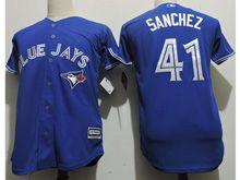 Youth Majestic Mlb Toronto Blue Jays #41 Aaron Sanchez Blue Cool Base Jersey